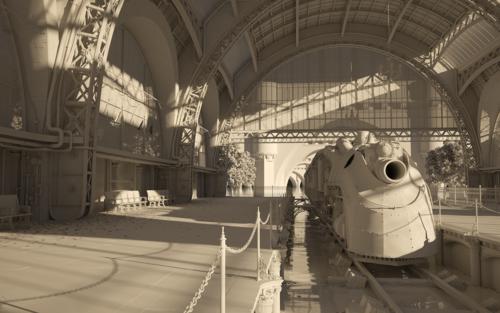 Medium large stationgray