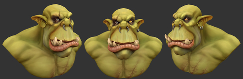 Medium large orc viewportrender