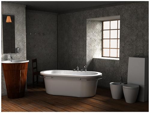 Medium large bath room