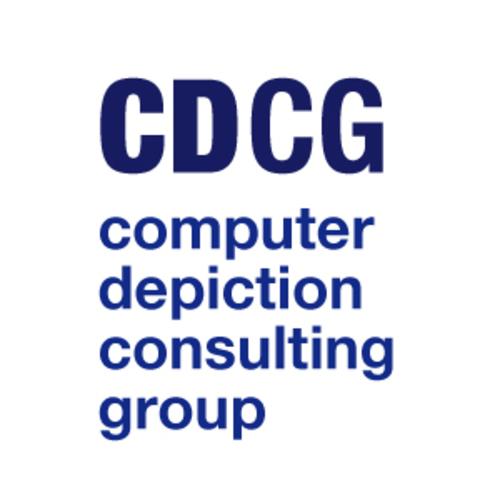 Medium large cdcg logo blue square